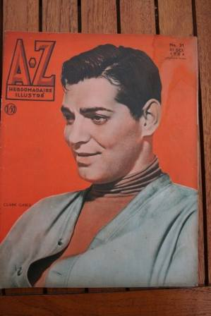 Clark Gable On Front Cover