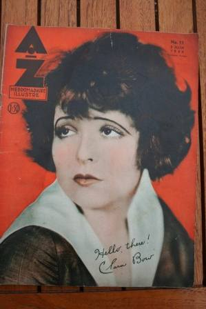 Clara Bow On Front Cover