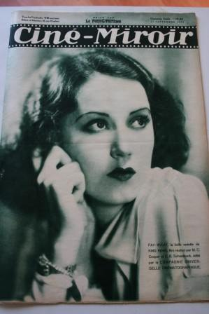 Fay Wray Cine Miroir 1933 #441 September 15, 1933