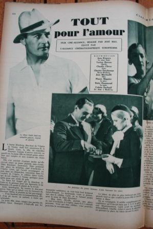 Jan Kiepura Claudie Cleves Charles Dechamps