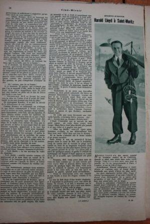 Harold Lloyd in Saint Moritz