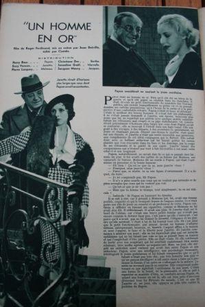 Harry Baur Suzy Vernon Josseline Gael