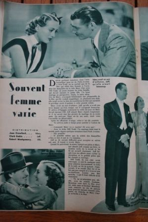 Joan Crawford Clark Gable Robert Montgomery