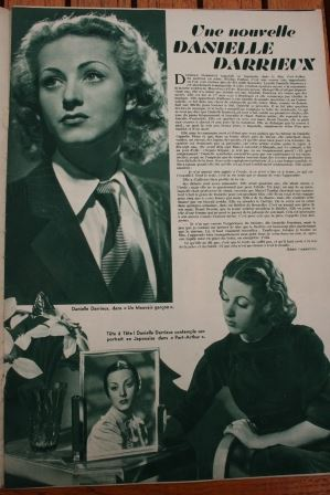 Magazine 1936 claude may danielle darrieux loretta young for Miroir danielle
