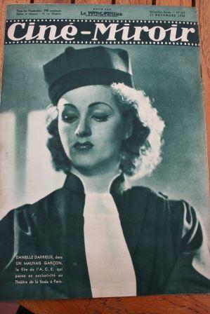 Magazine 1936 claude may danielle darrieux loretta young for Miroir danielle