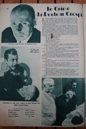 Dwight Frye Erich von Stroheim Harriet Russell