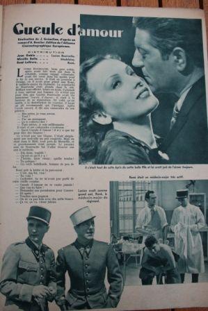 Jean Gabin Mireille Balin Rene Lefevre