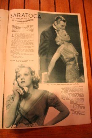 Jean Harlow Clark Gable Lionel Barrymore