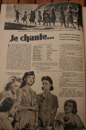 Charles Trenet Felix Oudart Janine Darcey
