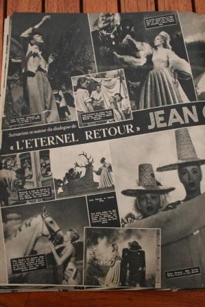 Jean Cocteau Jean Marais Madeleine Sologne