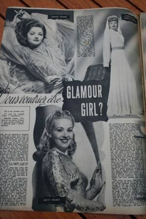 Martha Vickers Lucille Ball Betty Grable