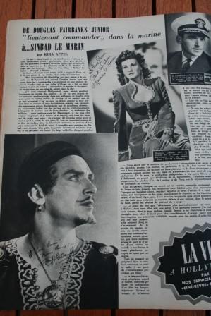 Douglas Fairbanks Jr Maureen O'Hara Sinbad