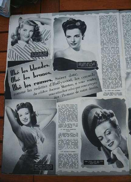 Rita Hayworth Cathy Downs Linda Darnell