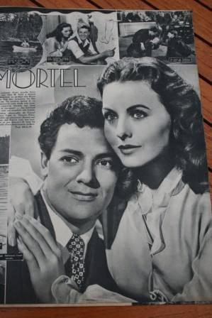 Gene Tierney Cornel Wilde Jeanne Crain