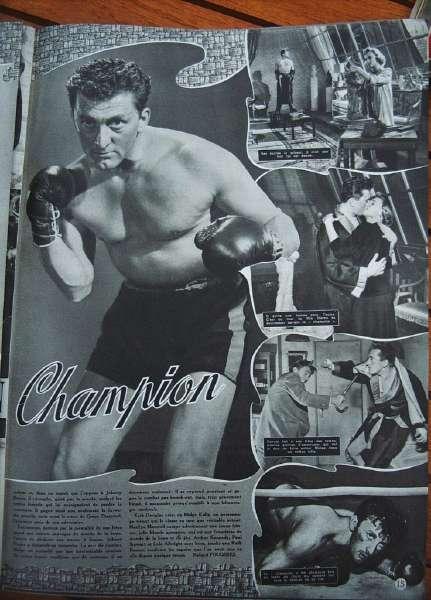 Kirk Douglas Marilyn Maxwell Arthur Kennedy Boxing