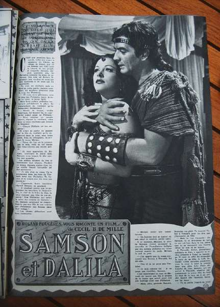 Hedy Lamarr Victor Mature Samson And Delilah