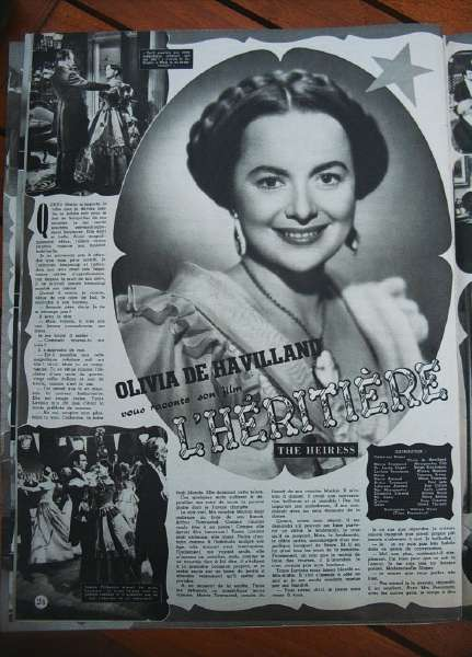 Olivia De Havilland Montgomery Clift The Heiress