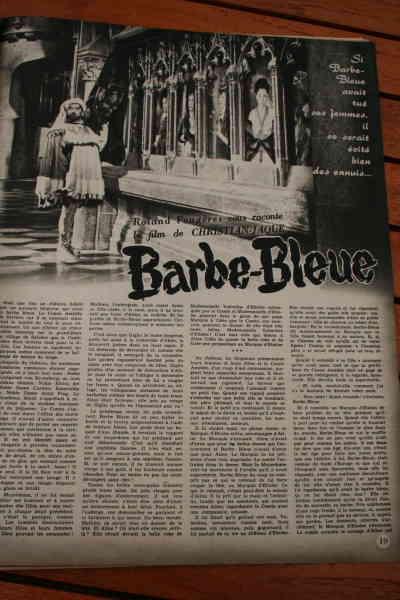 Pierre Brasseur Cecile Aubry Barbe Bleue