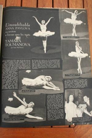 Tamara Toumanova Anna Pavlova