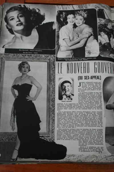Zsa Zsa Gabor Rita Hayworth Lana Turner