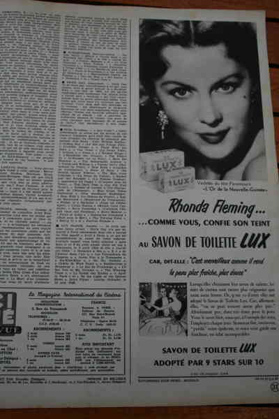Rhonda Fleming - Lux Ad