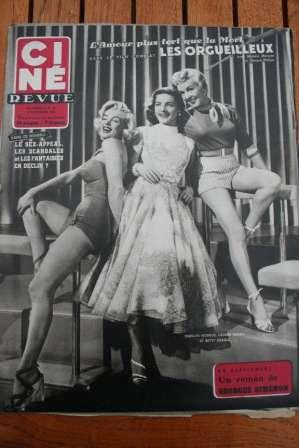 Marilyn Monroe Lauren Bacall Betty Grable