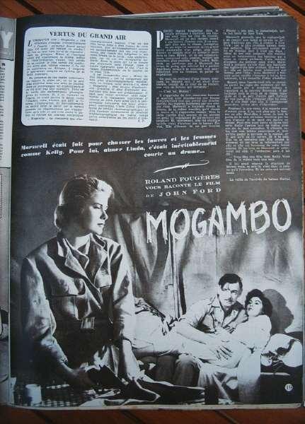 Grace Kelly Ava Gardner Clark Gable Mogambo