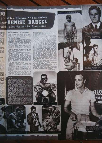 Marlon Brando Denise Darcel