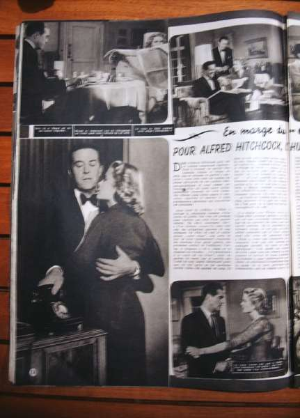 Grace Kelly Ray Milland Alfred Hitchcock