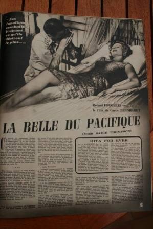 Rita Hayworth Jose Ferrer Miss Sadie Thompson