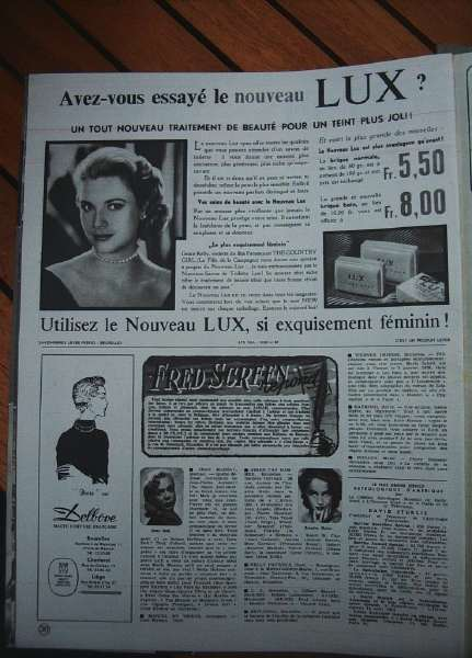 Grace Kelly Lux Ad