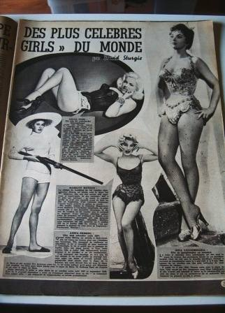 Diana Dors Marilyn Monroe Ekberg Gina Lollobrigida