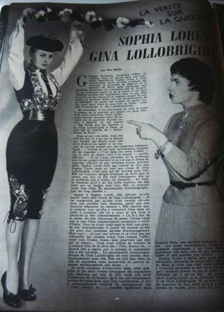 Sophia Loren Gina Lollobrigida