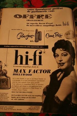 Ava Gardner Max Factor Ad