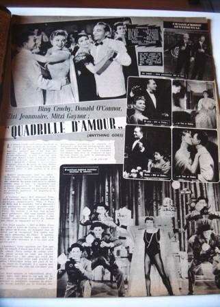 Zizi Jeanmaire Mitzi Gaynor Bing Crosby