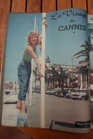 Festival Cannes 1958 Mylene Demongeot