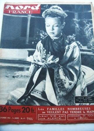 Cecile Aubry On Front Cover