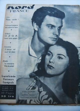 Debra Paget Louis Jourdan On Front Cover