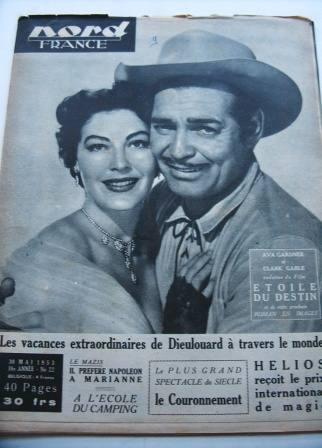Ava Gardner Clark Gable On Front Cover