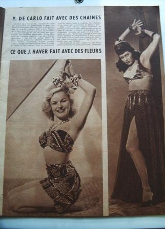 June Haver Yvonne De Carlo