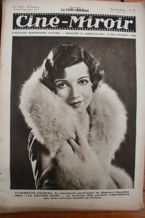 1930 Claudette Colbert Betty Balfour Anna May Wong
