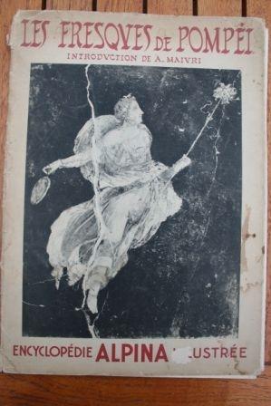 1936 Book Les Fresques de Pompei Encyclopedia Alpina