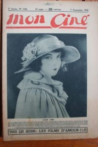 1924 Lillian Gish Gloria Swanson Raquel Meller