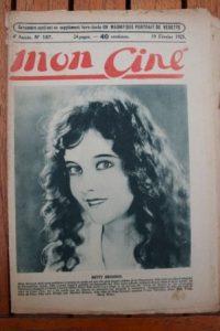 1925 Vintage Magazine Betty Bronson Lew Codi