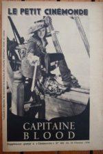 1936 Errol Flynn Olivia de Havilland Captain Blood