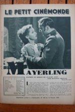 1936 Charles Boyer Danielle Darrieux Mayerling