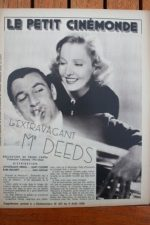 1936 Gary Cooper Jean Arthur Mr. Deeds Goes to Town