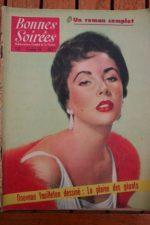 1956 Vintage Magazine Elizabeth Taylor Lucienne Boyer