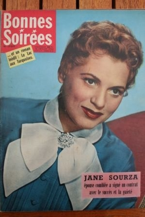 1958 Vintage Magazine Jane Sourza