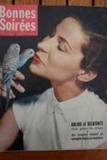 1958 Vintage Magazine Dalida Harry Belafonte Mike Todd